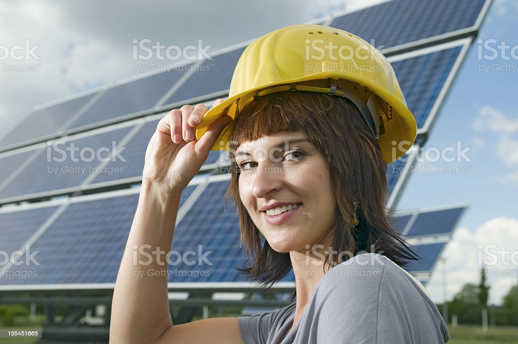 greeting with helmet royalty-free stock photo
