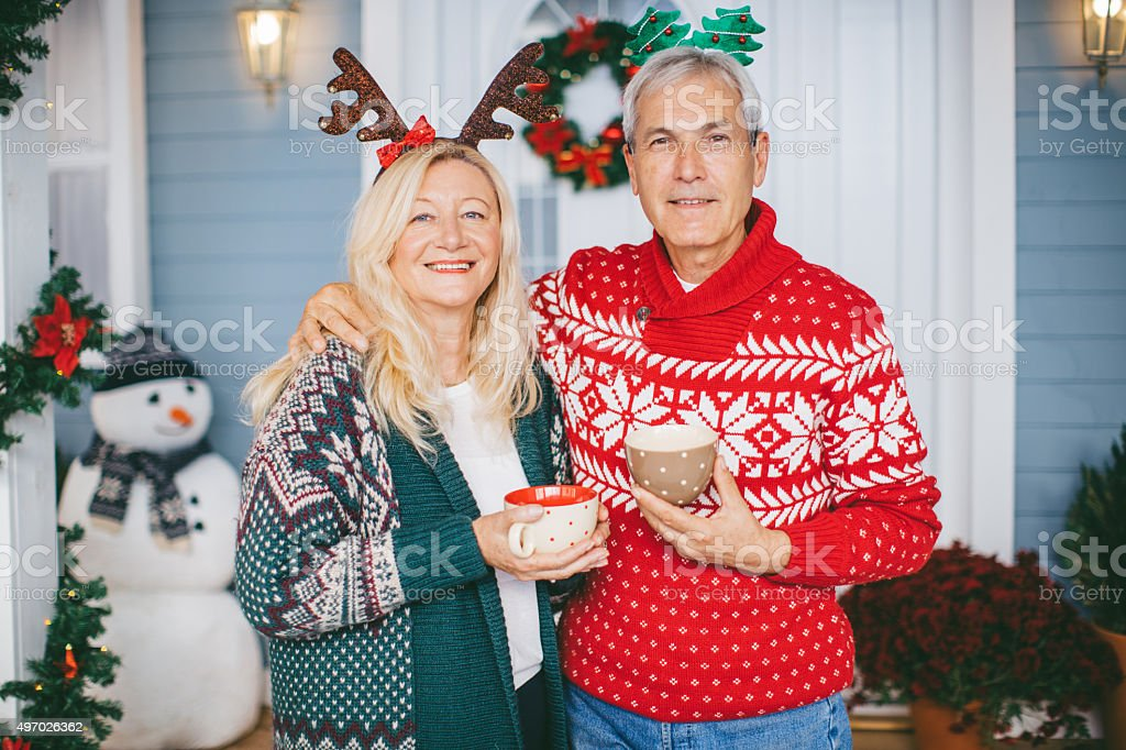 Greetings from Christmas vacation. stock photo