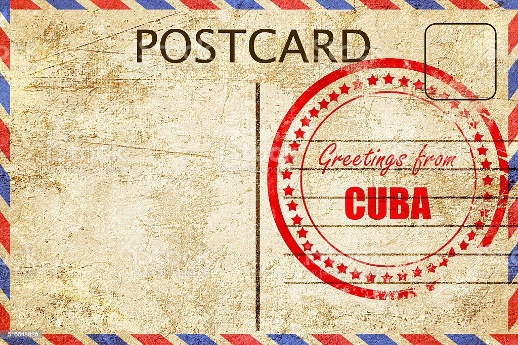 Greetings from cuba stock photo