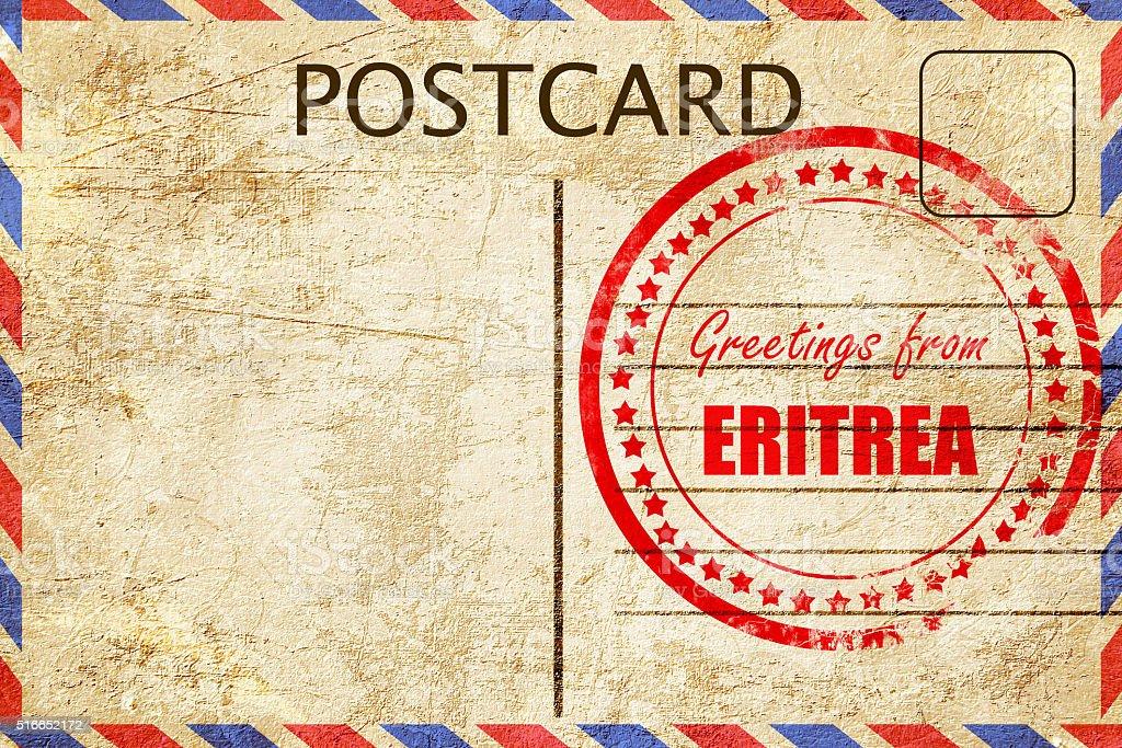 Greetings from eritrea stock photo