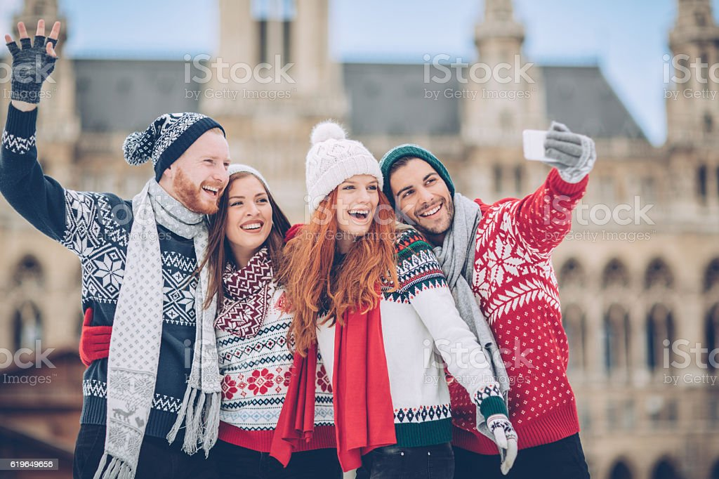 Greetings from Vienna stock photo