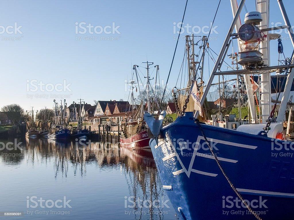 Greetsiel, fishing boats. stock photo