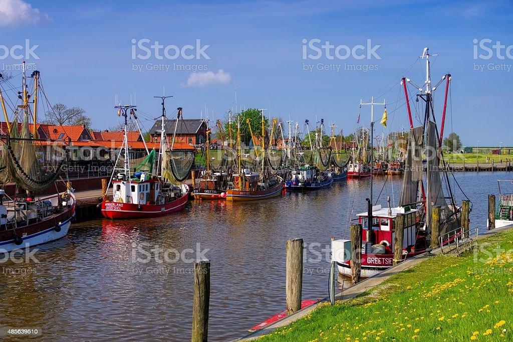 Greetsiel harbour stock photo