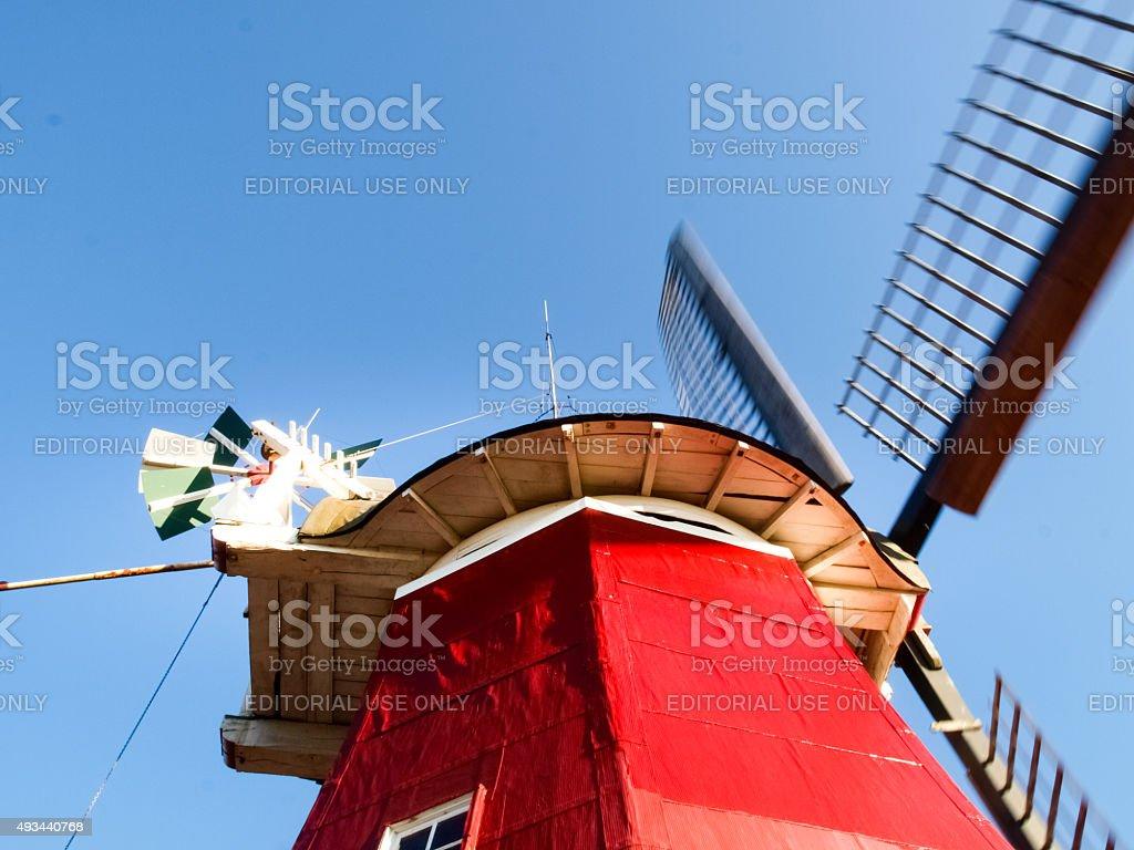 Greetsiel, traditional Dutch Windmill stock photo