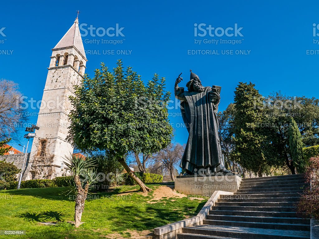 Gregory of Nin statue stock photo