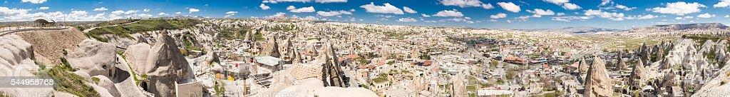 Göreme, the center of  'fairy chimney' rock formations, Turkey stock photo