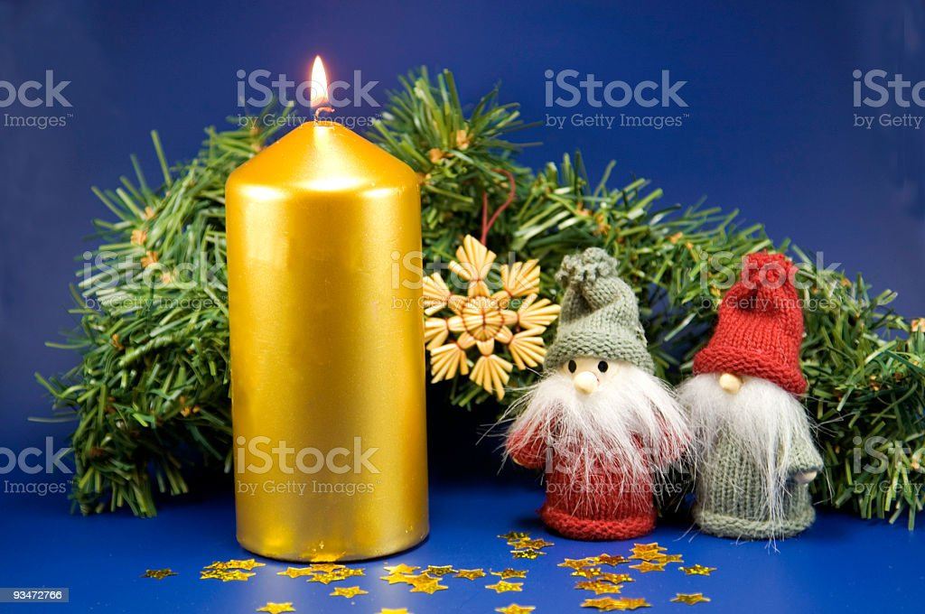 Gremlins and candle- stock photo