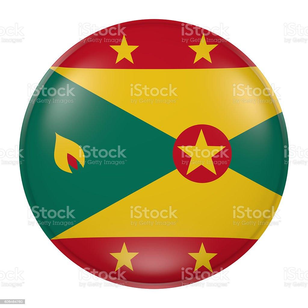 Grenada button stock photo