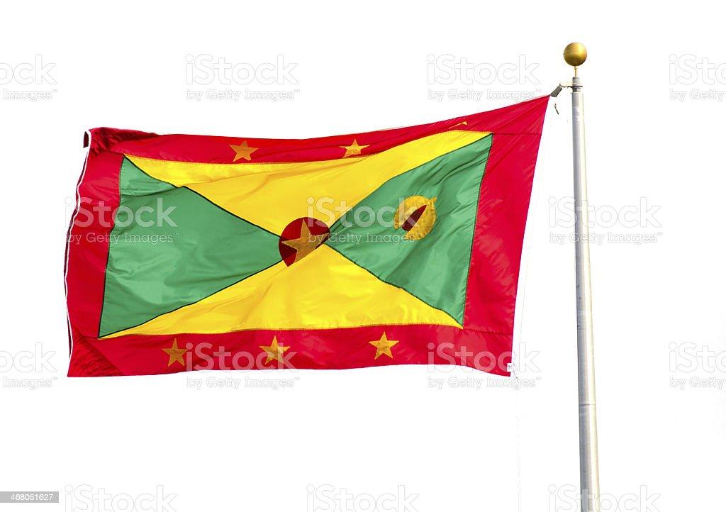 Grenada Flag Clipping Path stock photo