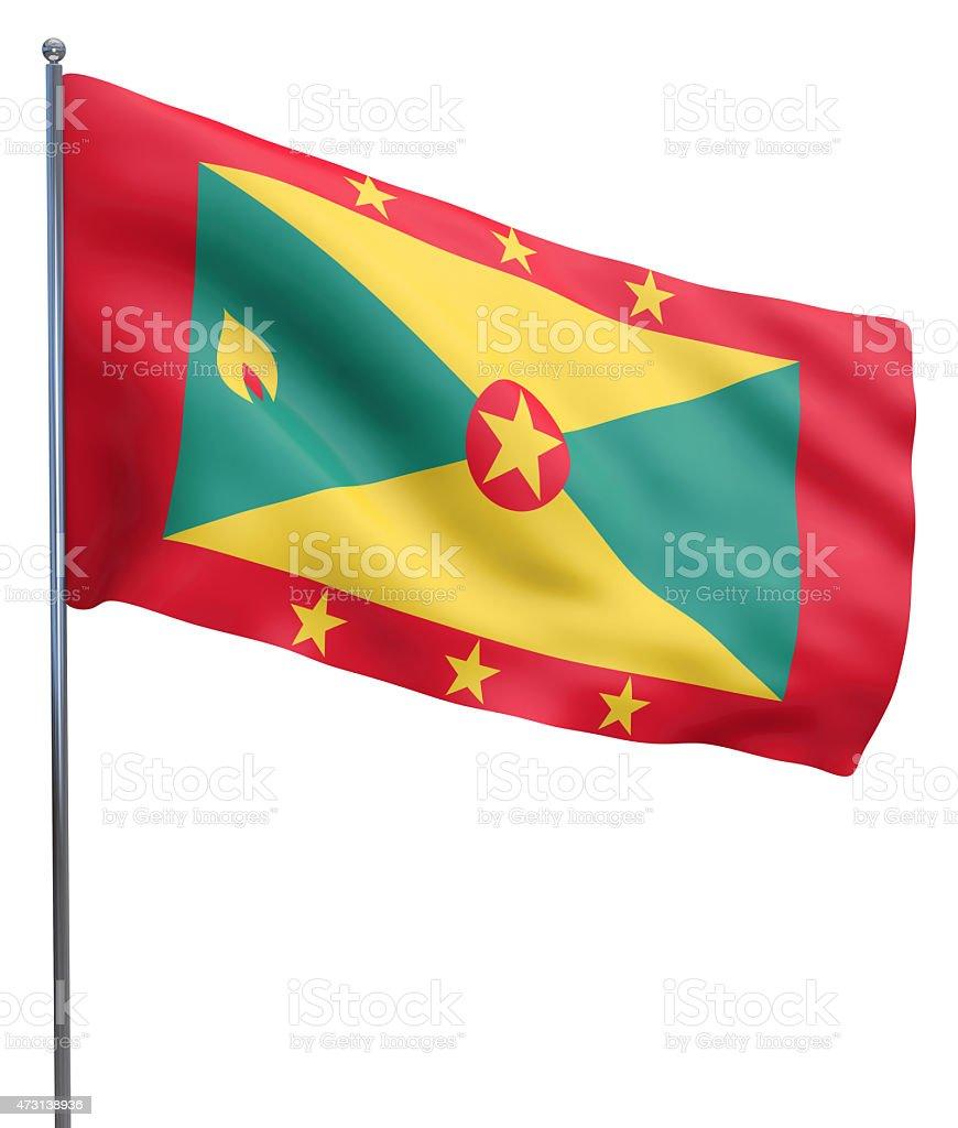 Grenada Flag Image stock photo