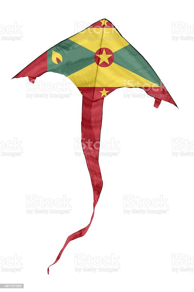 Grenada Flag Kite stock photo