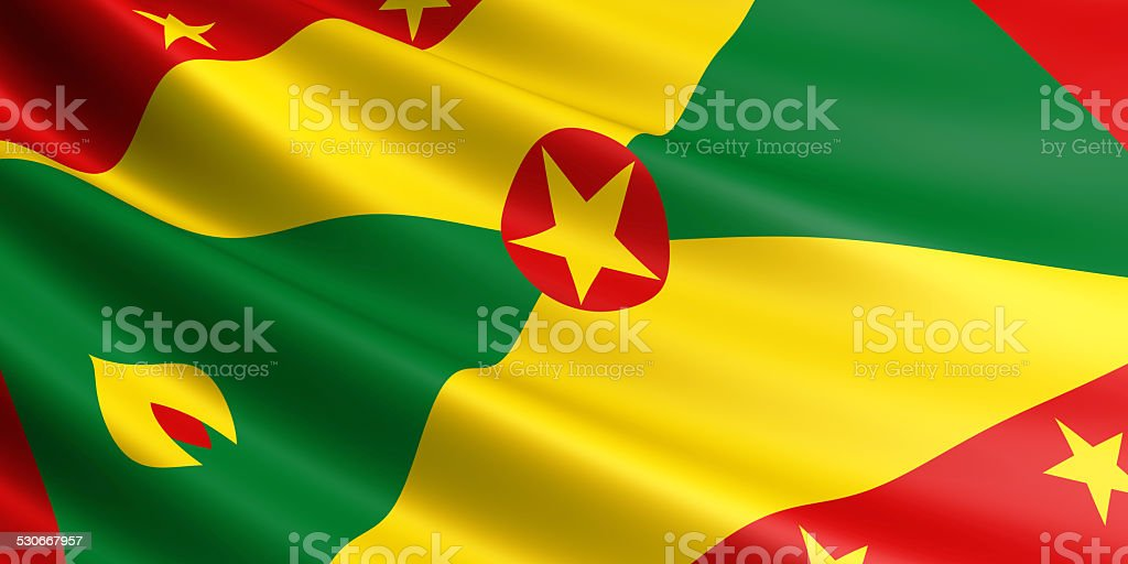 Grenada flag. royalty-free stock vector art