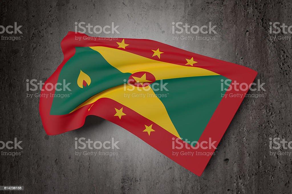 Grenada flag waving stock photo