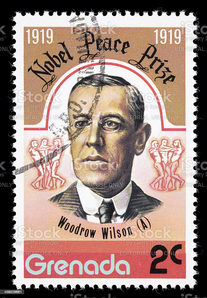 Grenada Woodrow Wilson postage stamp stock photo