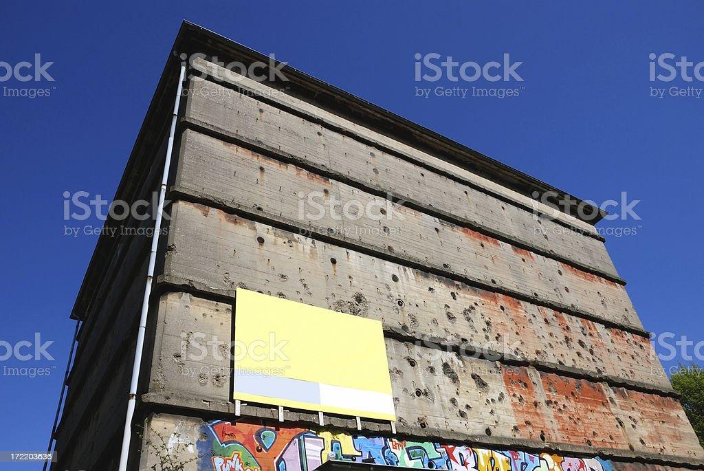 grenade holes shelter royalty-free stock photo