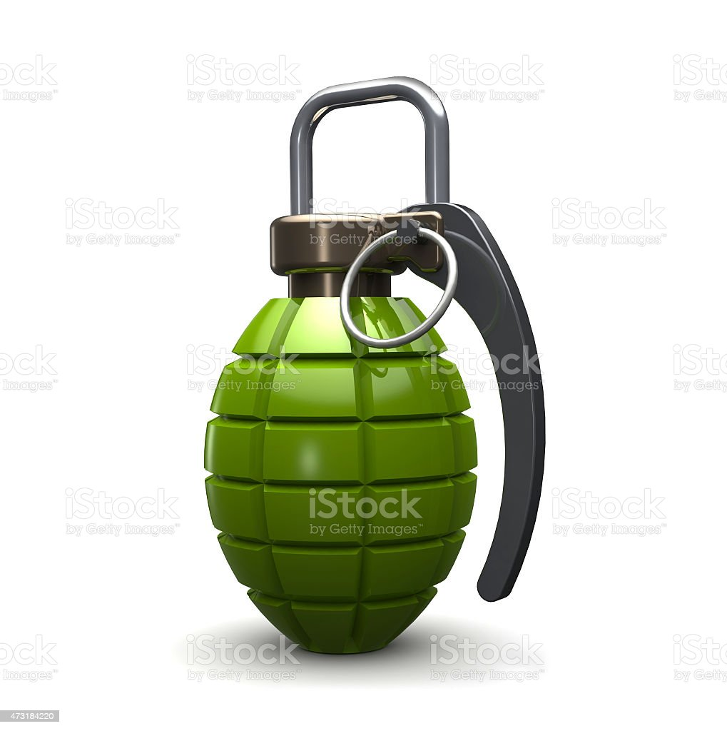grenade isolated on white stock photo