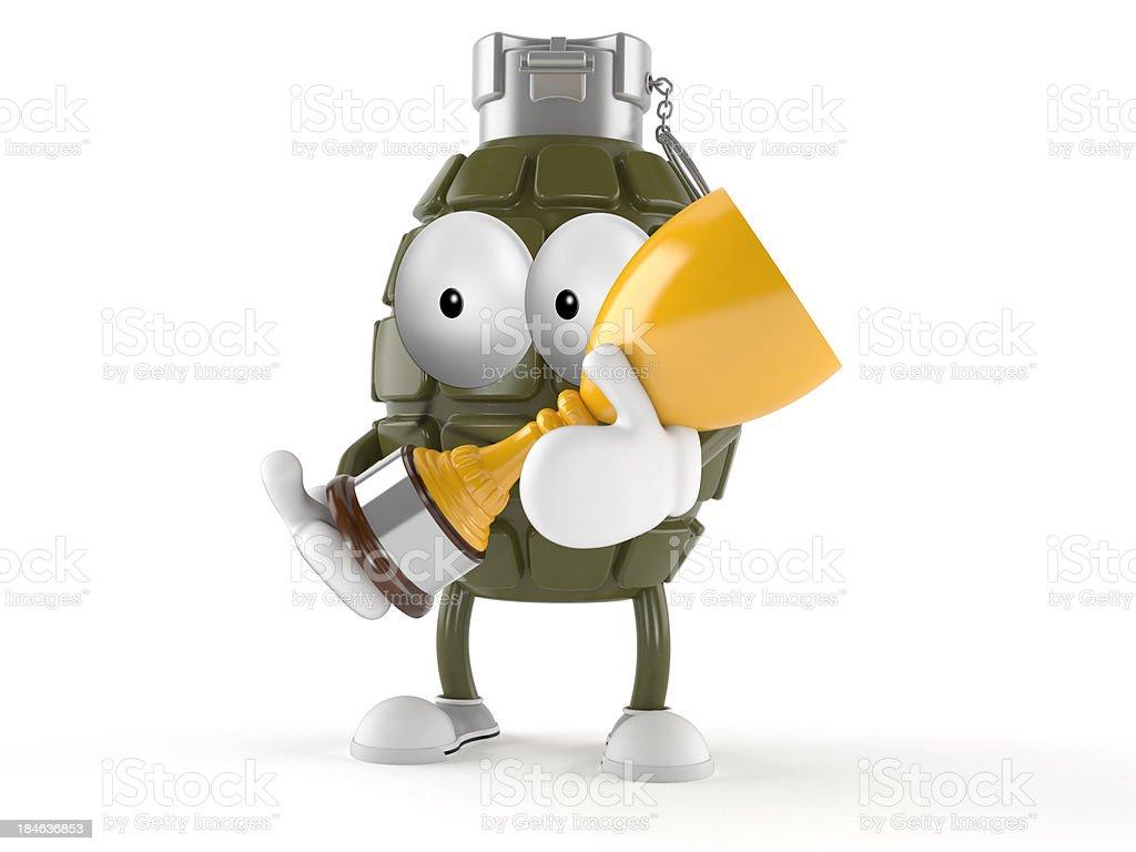 Grenade toon royalty-free stock photo