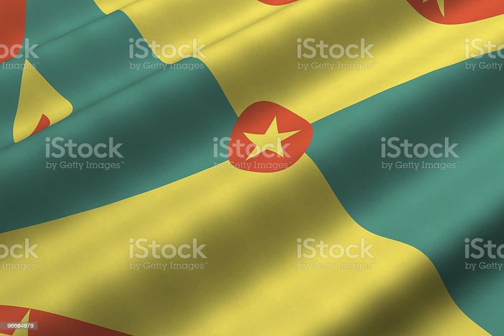 Grenadian Flag stock photo