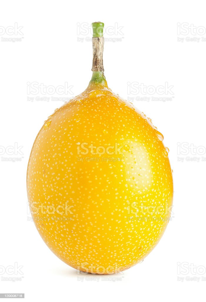 Grenadilla passion fruit isolated with clipping path stock photo