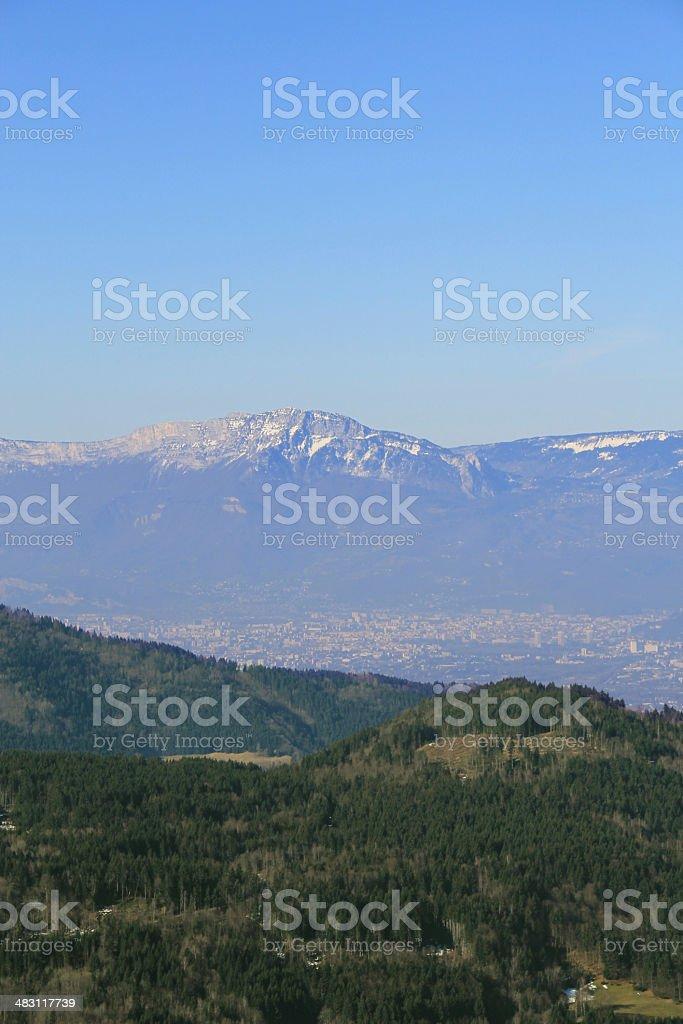 Gresivaudan valley, France. stock photo