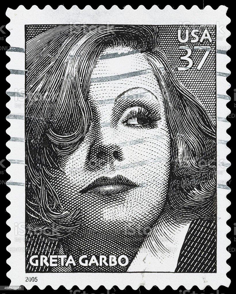 USA Greta Garbo postage stamp stock photo