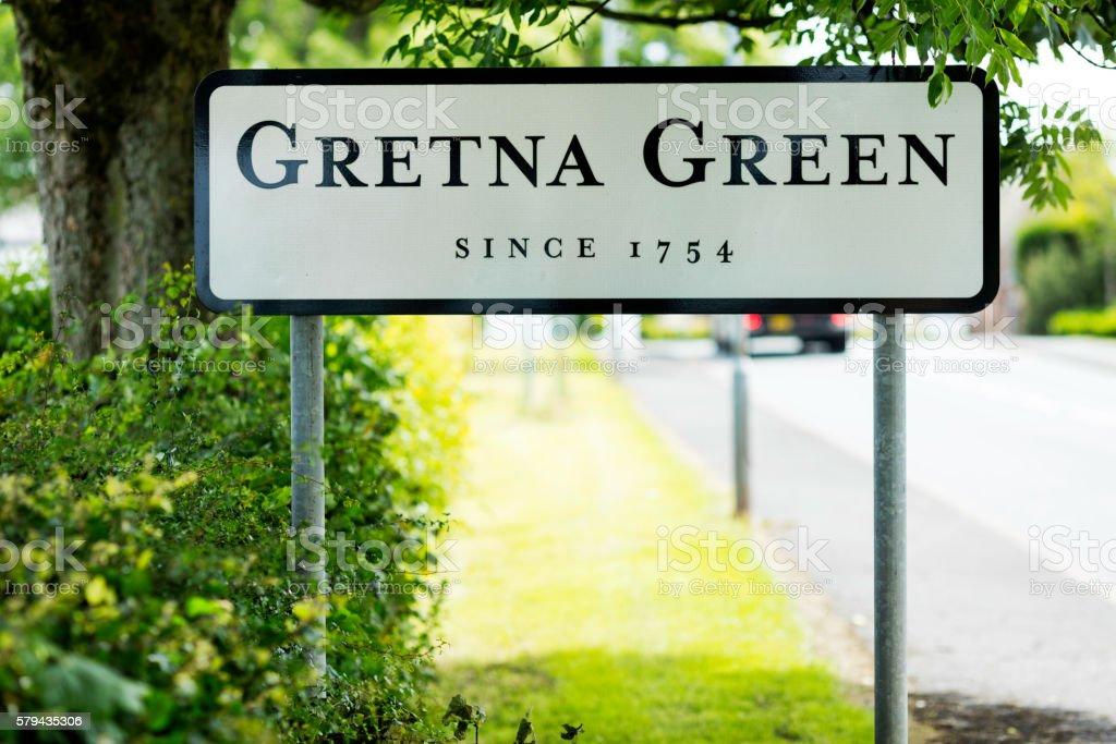 Gretna Green Signpost stock photo
