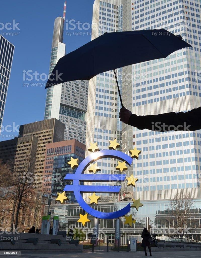 Grexit - Euro Stabilitization stock photo