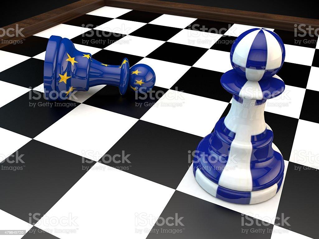 Grexit Greece EU financial crisis banking crisis stock photo