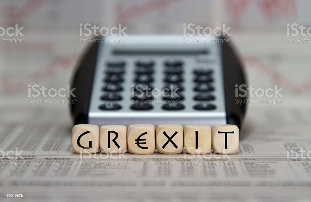 Grexit stock photo