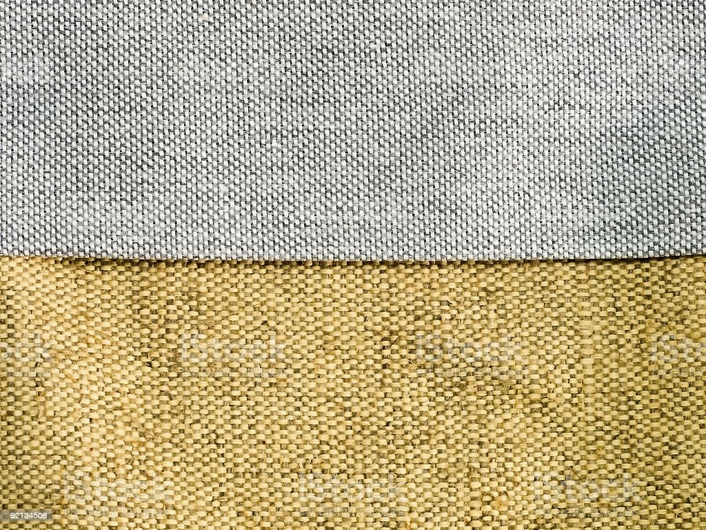 Grey And Yellow Sackcloth royalty-free stock photo