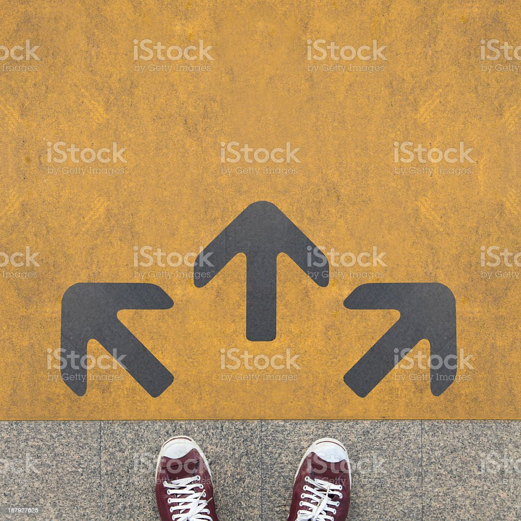 Grey arrow stock photo