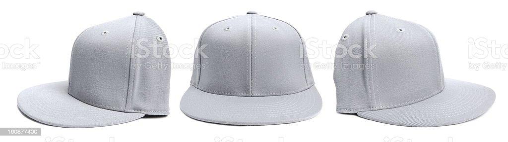 Grey Baseball Cap at Different Angles stock photo