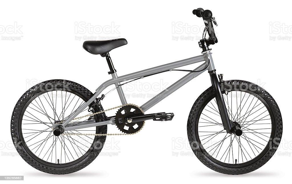 Grey BMX bike royalty-free stock photo