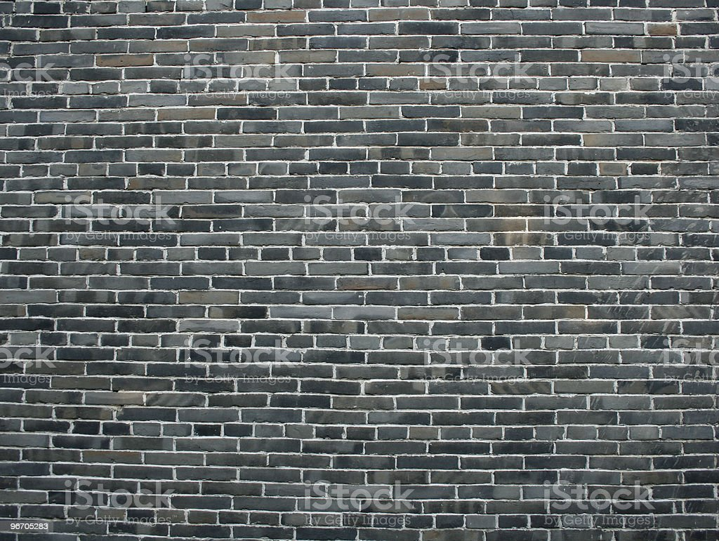 Grey Brick Wall royalty-free stock photo