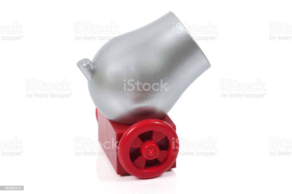 Grey Cannon stock photo