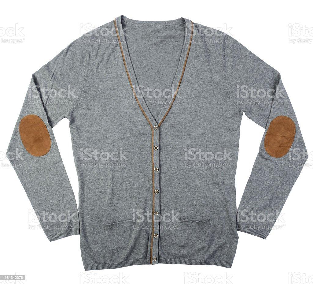 grey cardigan stock photo
