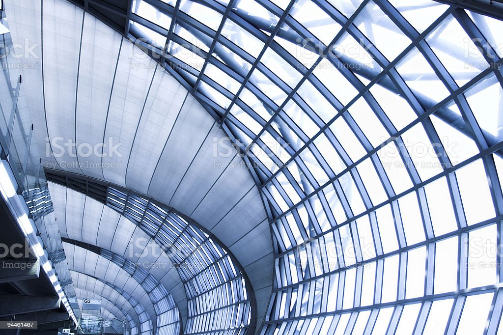 grey ceiling of office building royalty-free stock photo
