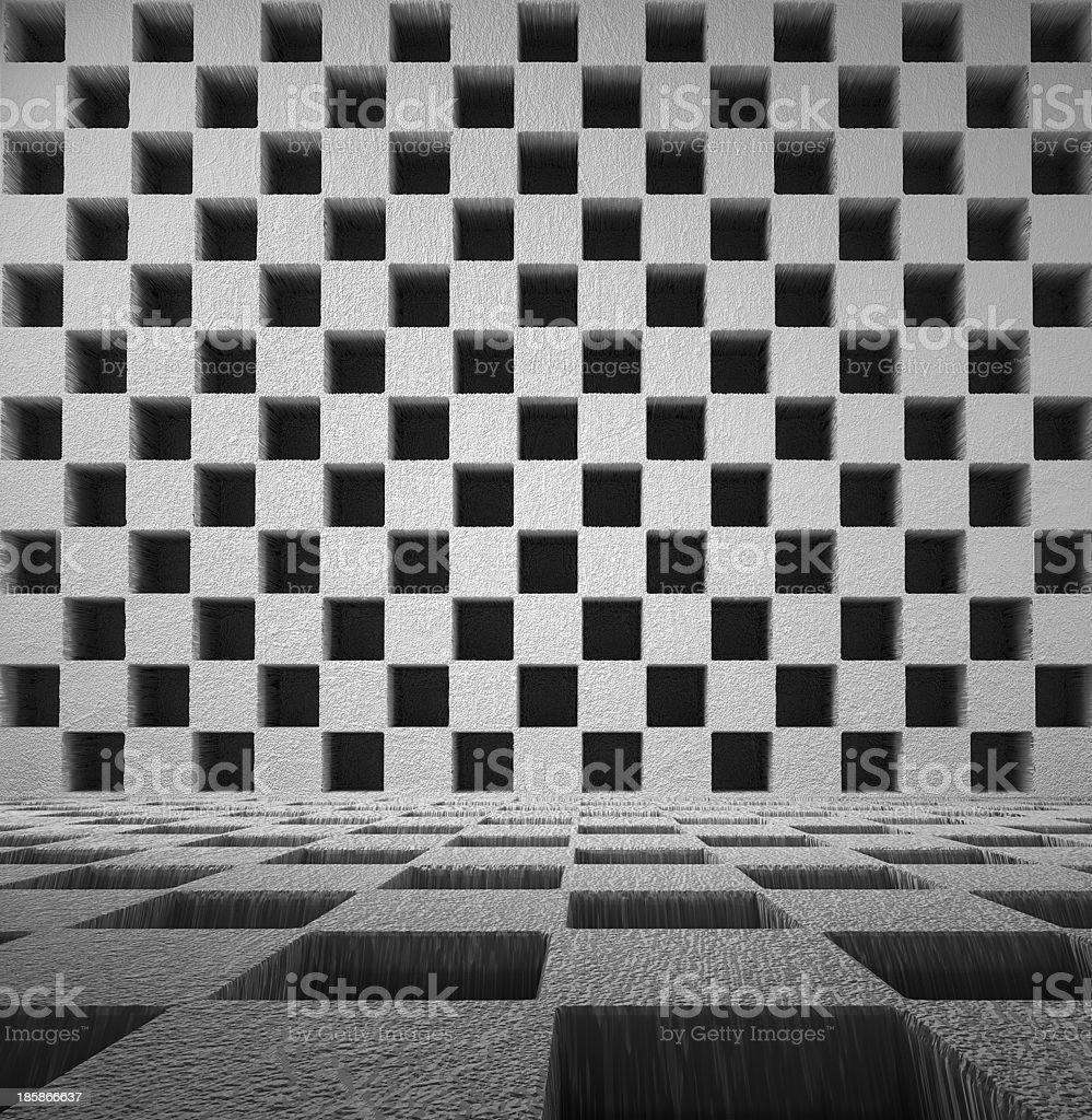 grey chess room royalty-free stock photo