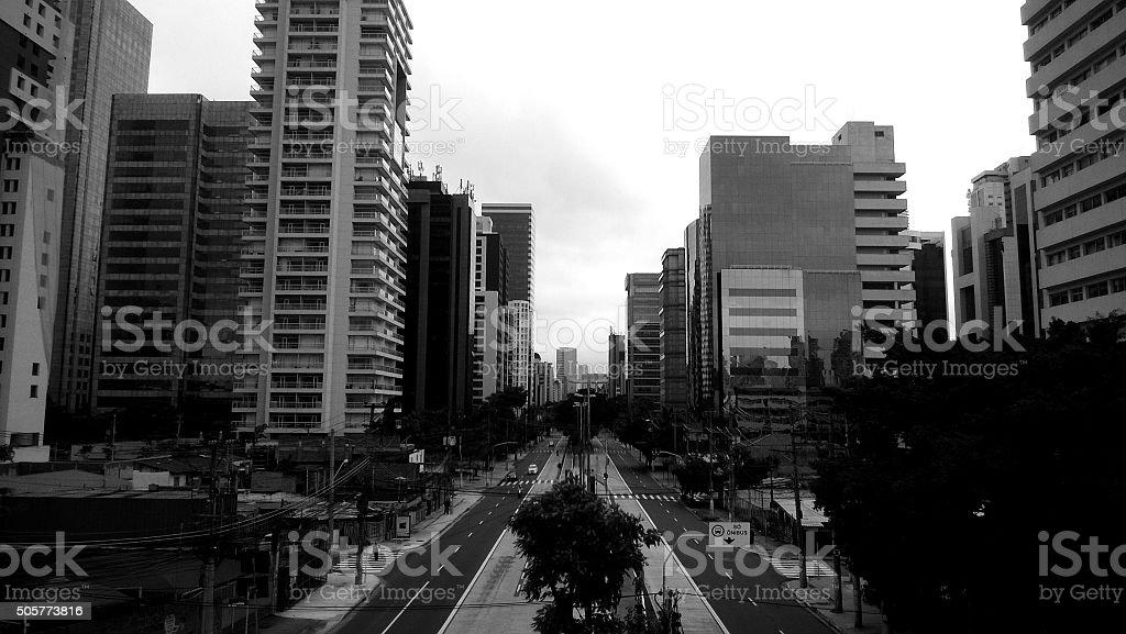 Grey city. royalty-free stock photo