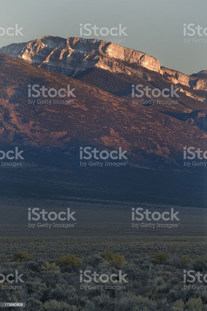 'Grey Cliffs and Sagebrush, Great Basin National Park' stock photo