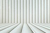 Grey color perspective backdrop, vertical.