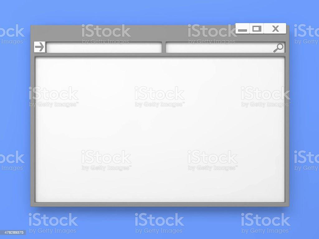 Grey Computer window. stock photo