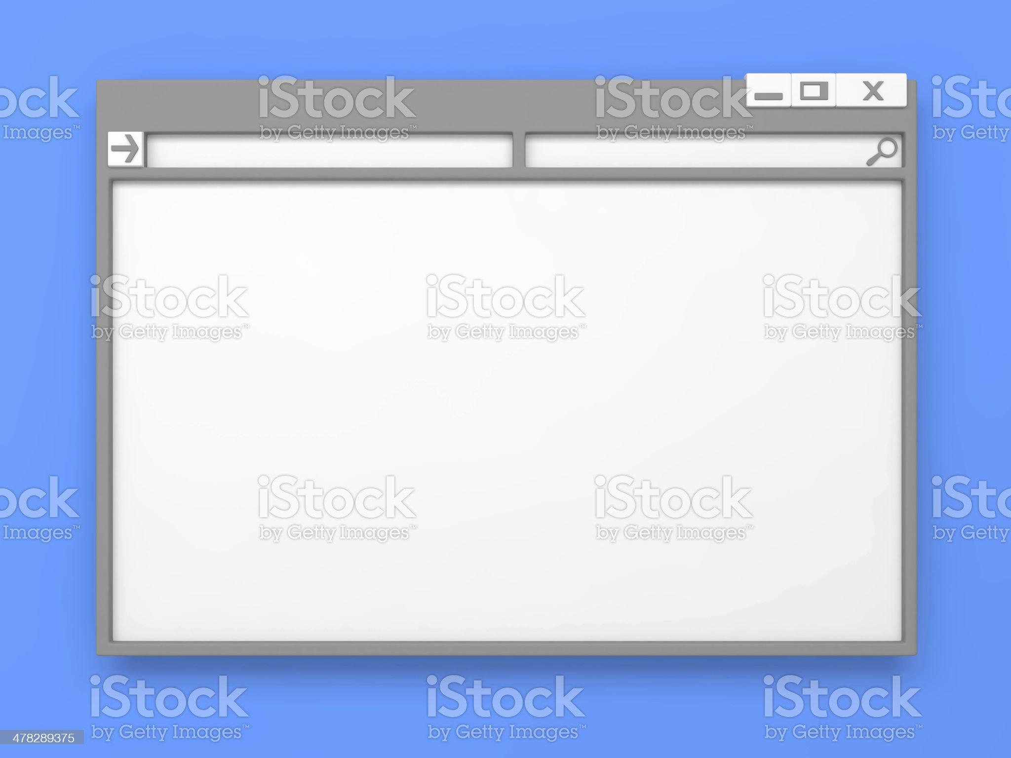 Grey Computer window. royalty-free stock photo