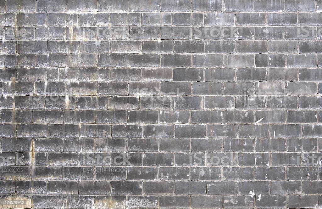 Grey Concrete Brick Wall royalty-free stock photo