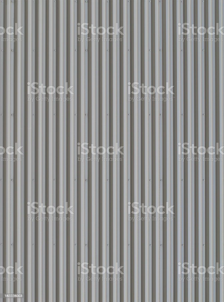 Grey Corrugated Metal Background. royalty-free stock photo