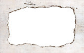 grey crumpled paper border with copy space centred