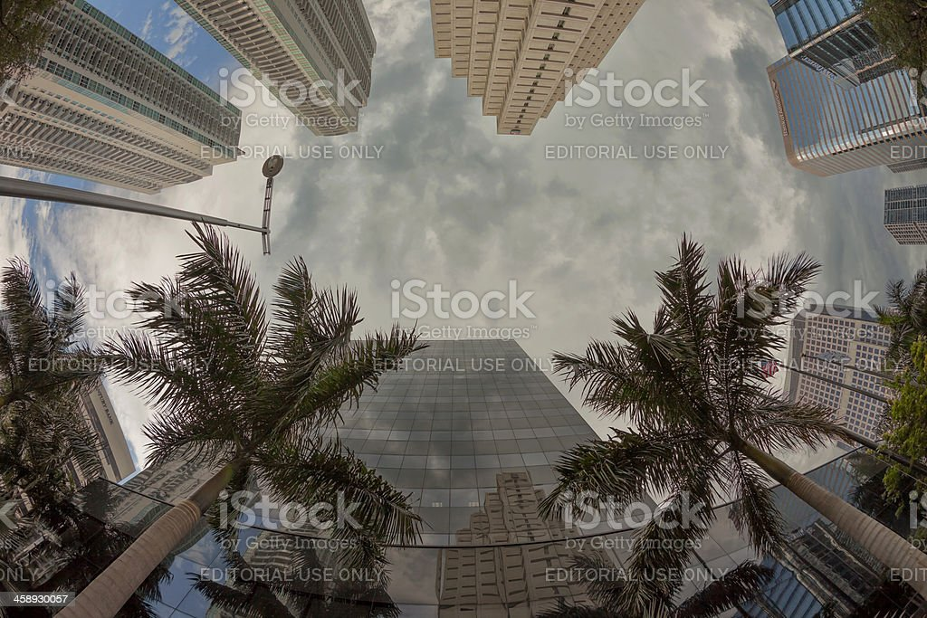 Grey days over the financial crisis royalty-free stock photo