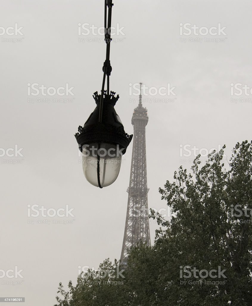 Grey Eiffel Tower stock photo