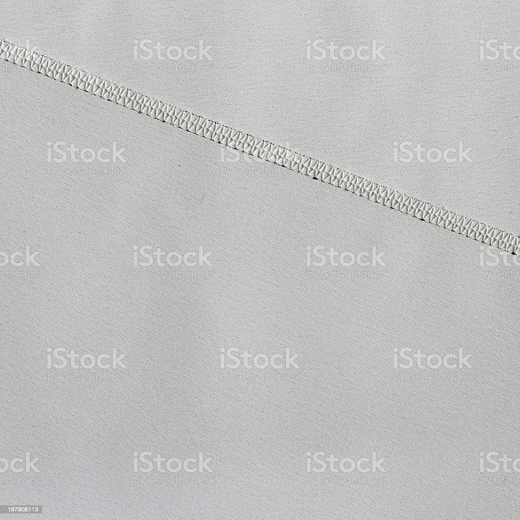 grey fabric texture with seam royalty-free stock photo