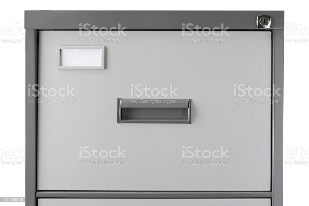 Grey Filing Cabinet royalty-free stock photo